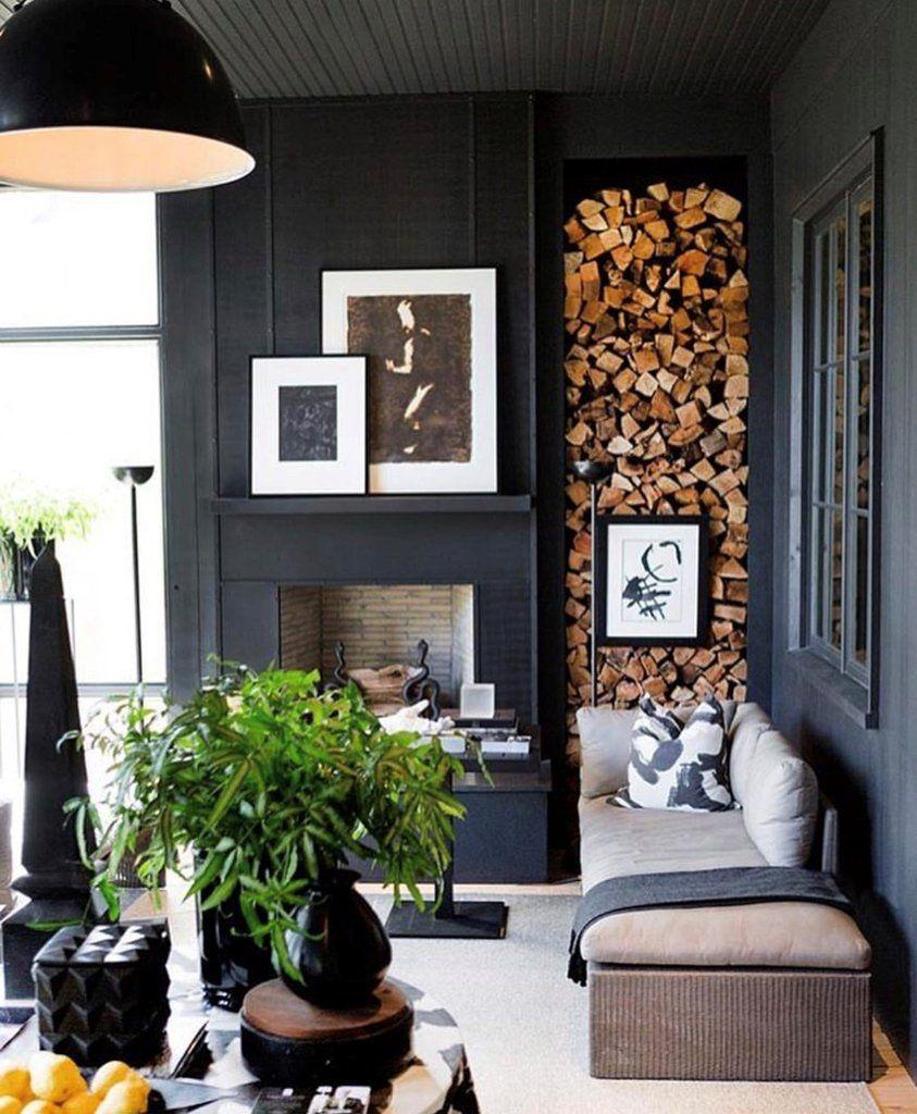 Instagram Roundup Going Dark Dark Living Rooms Living Room Scandinavian Black Walls Living Room