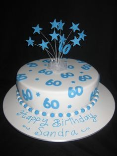 60th Birthday Cake For Men Adult Cakes Party Anniversary