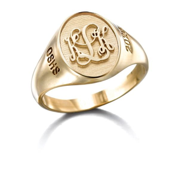 Small Signet Raised L16 Womens Engagement Rings Graduation Rings Engagement Rings Oval