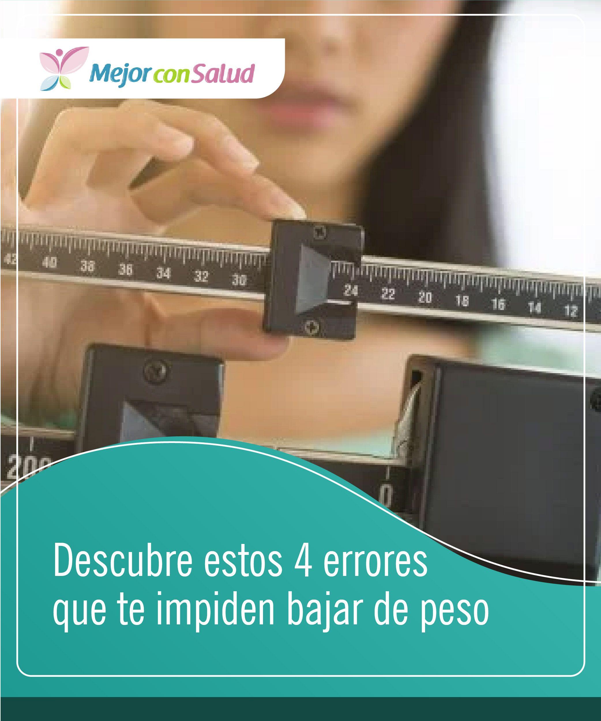 errore mas frecuentes en la perdida de peso