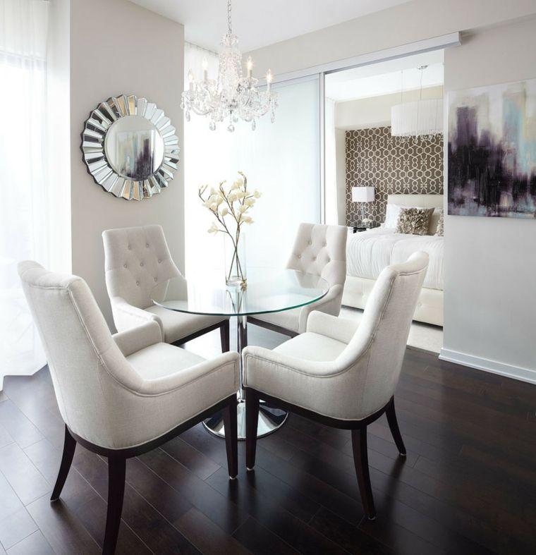 Comedor blanco de diseño moderno - 24 fotos geniales - | sala de té ...