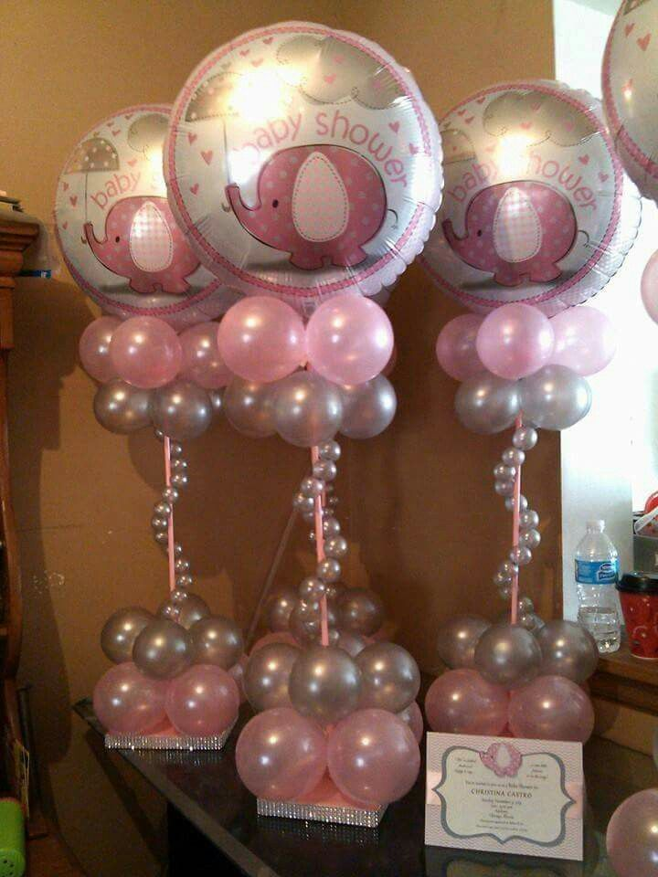 Pin By Yadira Rodriguez Diaz On Baby Shower Baby Shower Balloons Baby Shower Centerpieces Baby Shower Princess