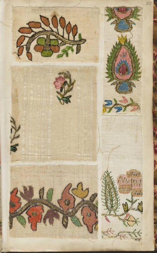 Embroidery sample book] | E3. Embroidery Sample Book (1750-1800 ...