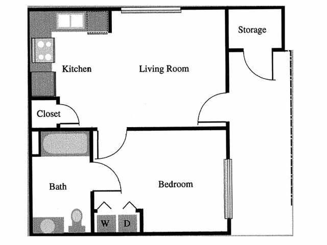 Spacious 1 Bedroom Efficiency Apartment 552 Square Feet Only 599 Per Month Regal Pointe Apartments Tuscalo Small House Plans House Plans Apartment Layout