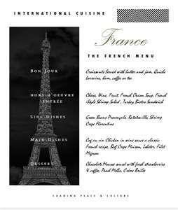 The French Menu Cover  French Merci Merci