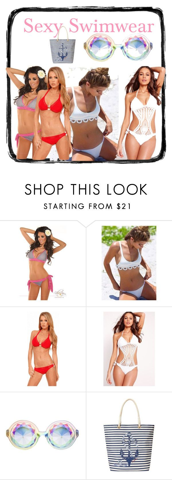 """Sexy Swimwear"" by tinydancer2018 ❤ liked on Polyvore featuring Missguided and C. Wonder"