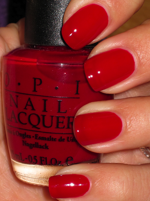 Quarter Of A Cent Cherry Great Red Cream Opi Nail Polish