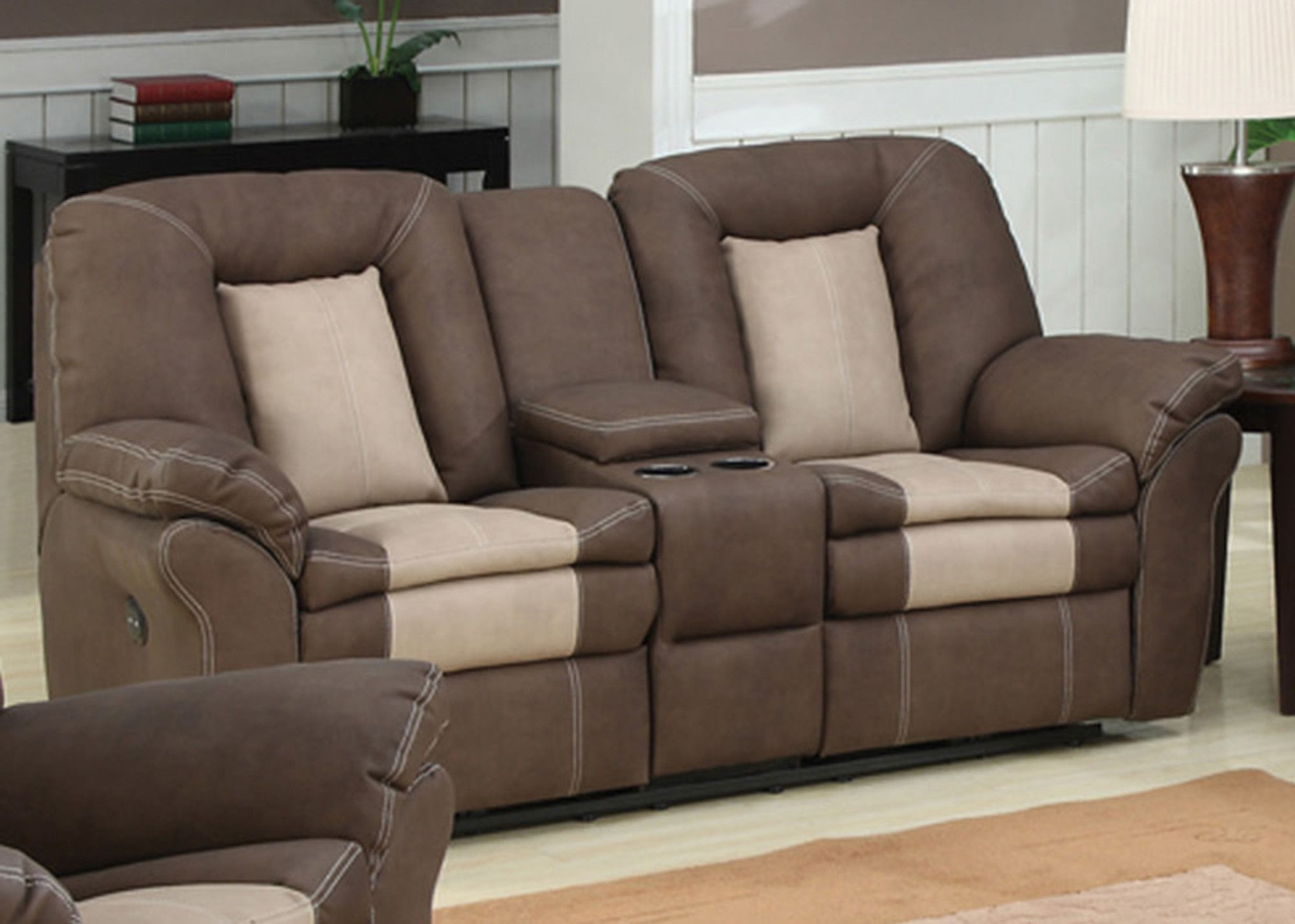 Living Room Loveseats Carson Plush Living Room Dual Reclining Sofa Loveseats Living