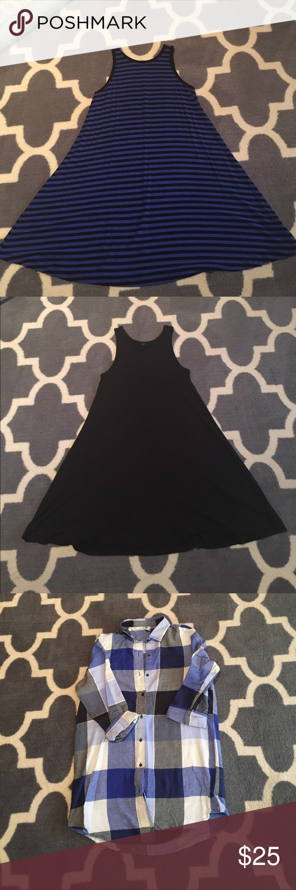 Bundle for gb2016 2 Old Navy swing dresses and one Old Navy sleepshirt Dresses