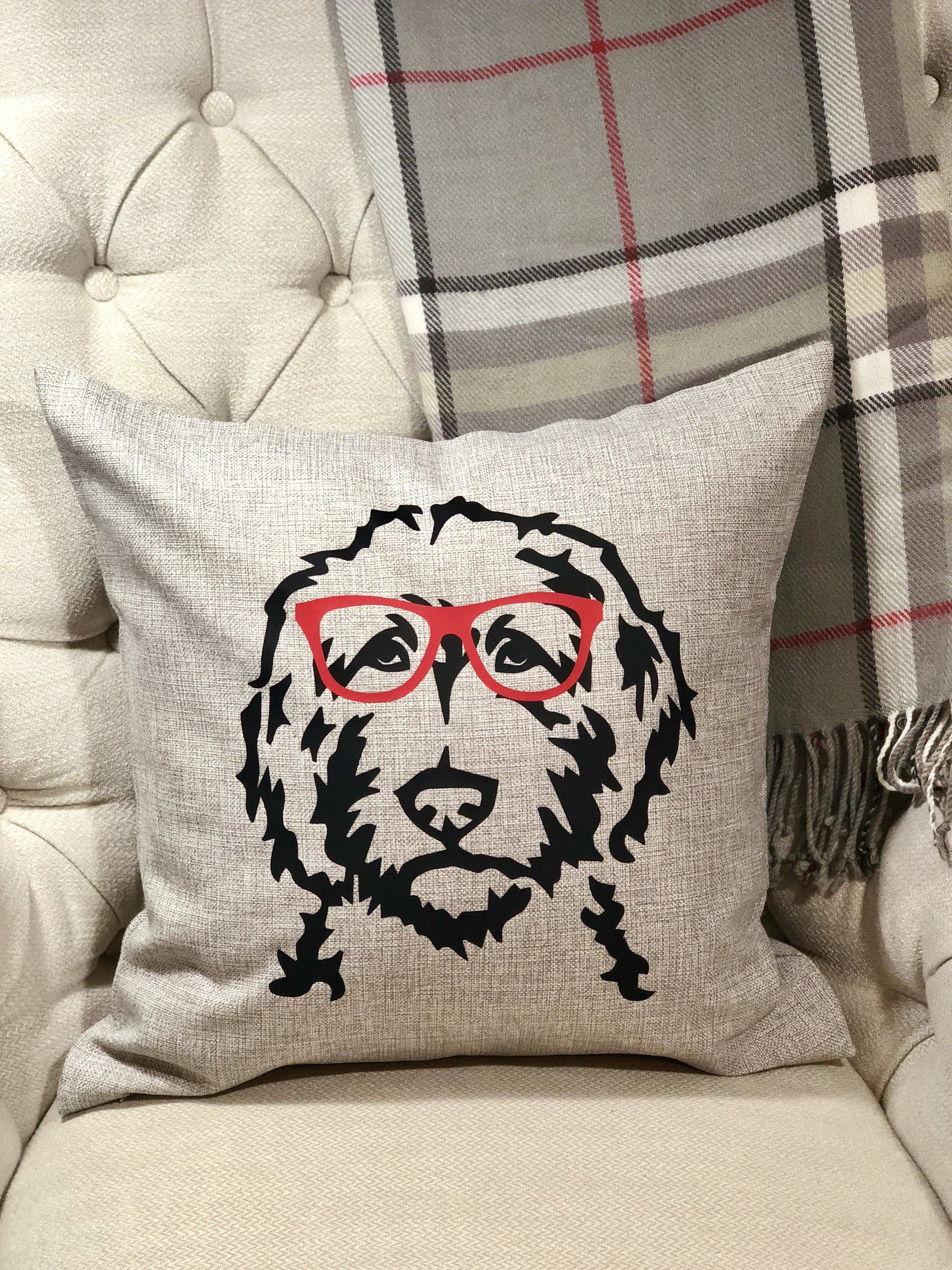 customized doodle face pillow cover bub s and betty s for the