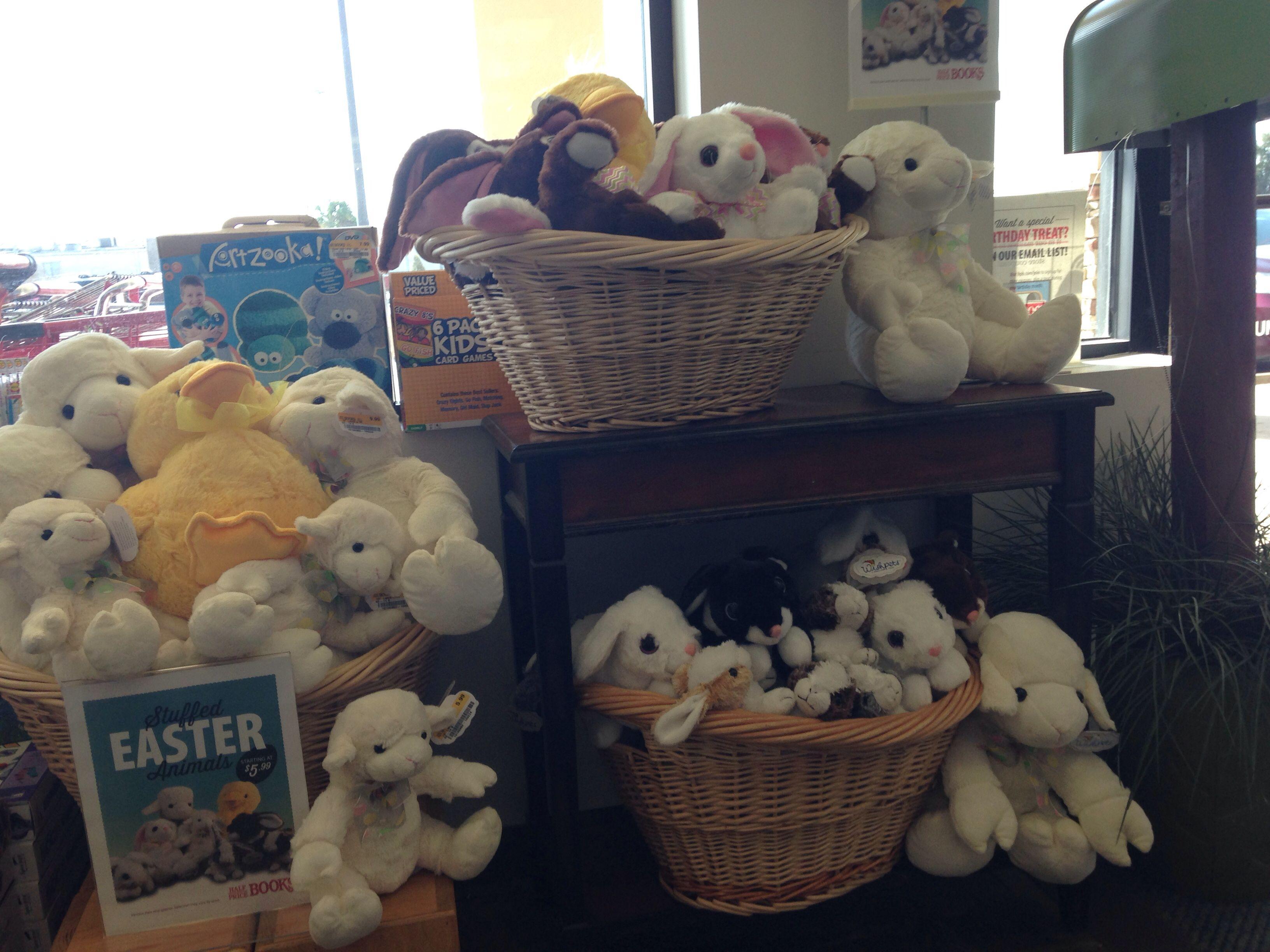 My Easter stuffed animal display Stuffed animal displays