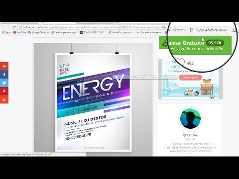 Como Baixar E Editar Cartaz Template Do Freepik No Adobe