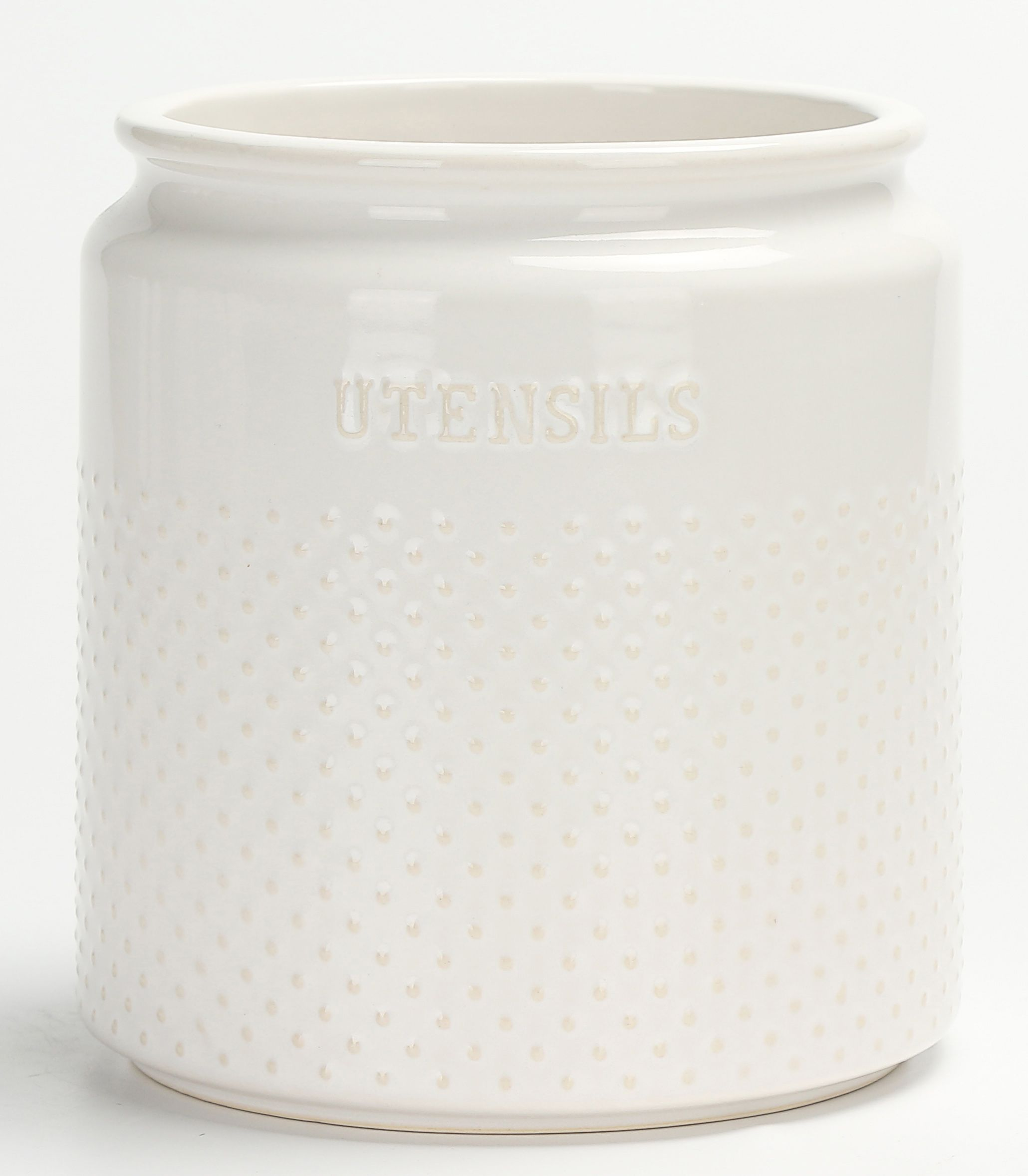 57a10ce000943c5f28833b2a2b0e46a9 - Better Homes & Gardens Ceramic Hobnail Canister Small