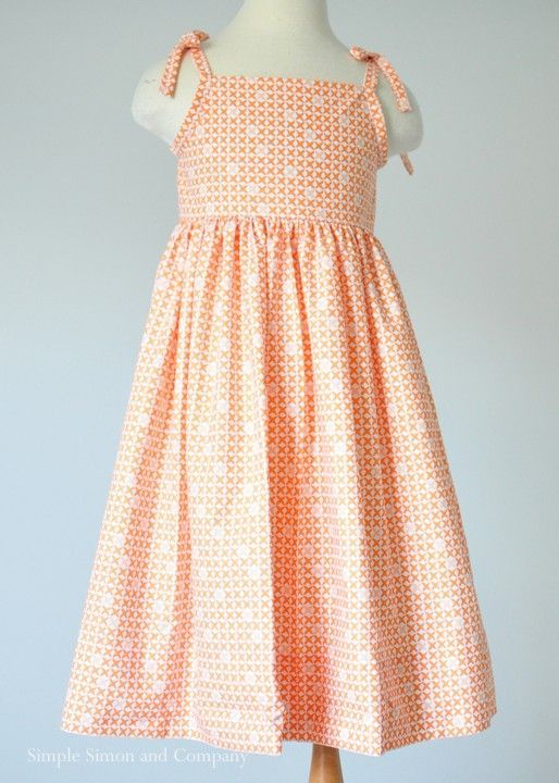 A Free Sundress Pattern Made From A Sheet In Orange Simple