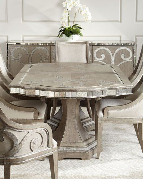 Juliet Mirrored Buffet Luxury Dining Room Couch Dining Table