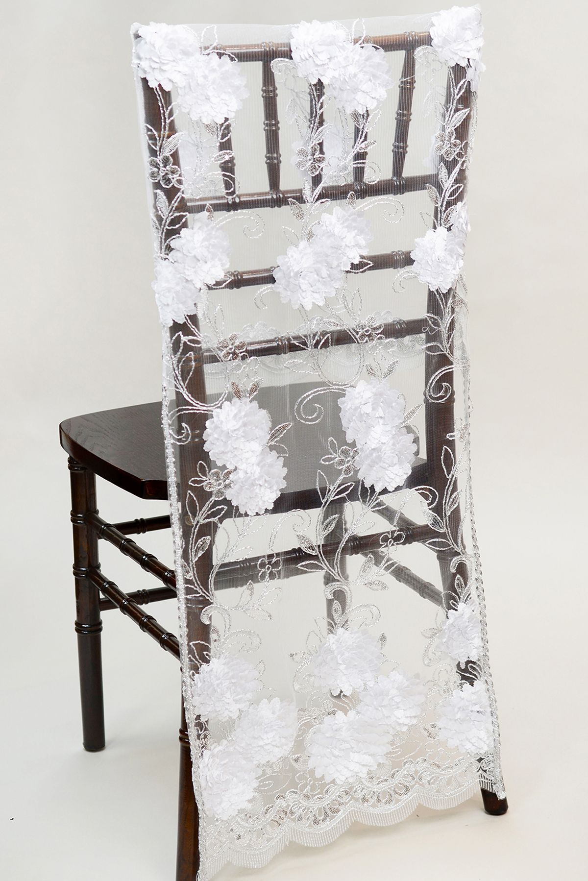 Decor for chairs wedding Chair Sashes Banners Signs  Chiavari chairs Chair covers and