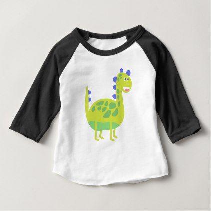 bfc14b28 Cute funny green dinosaur baby T-Shirt