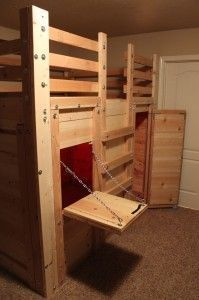 Lofted Bed With A Fort Underneath Great Diy Project To Do
