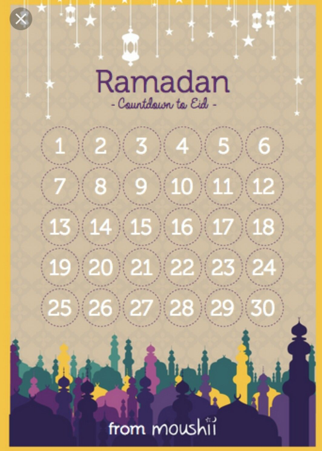 Ramadan Countdown To Eid