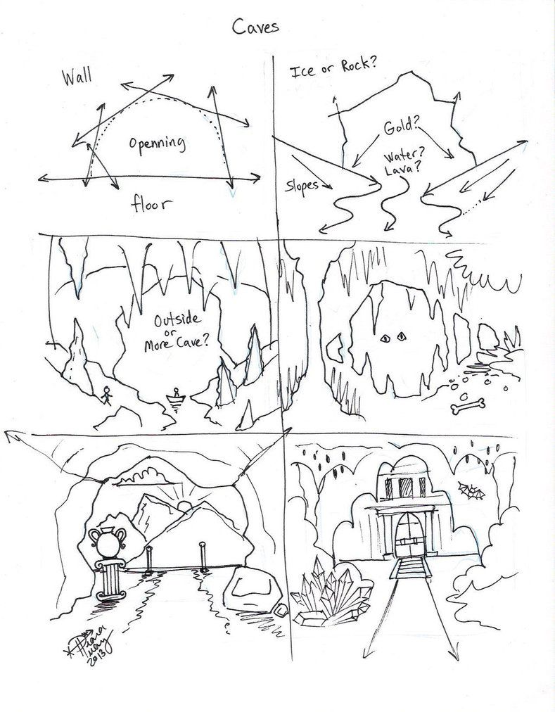 Draw Caves by Diana-Huang on DeviantArt