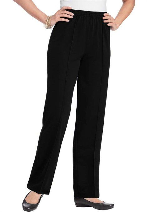 ae28e6a99c4 Amazon.com  Roamans Women s Plus Size Petite Crease Front Pant  Clothing