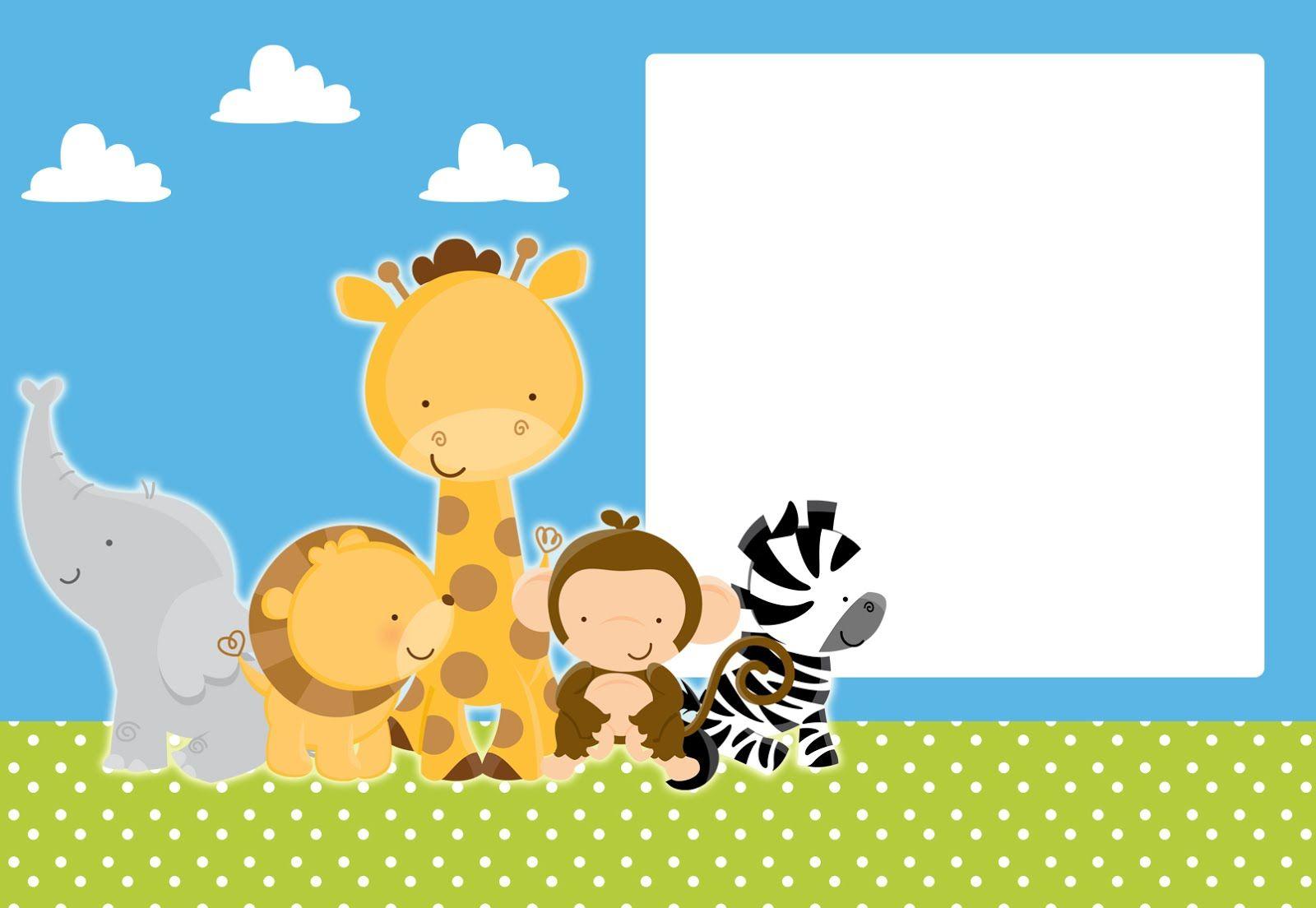 Tiernos Bebés de la Selva: Mini Kit para Imprimir Gratis.   yop ...