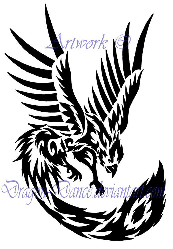 Pictures Of Tribal Phoenix Bird Email This Blogthis Share To