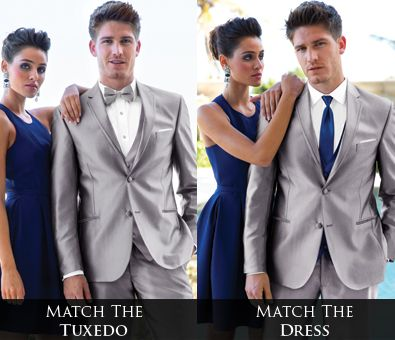Guys, if the girl's dress is hard to match, consider matching your ...