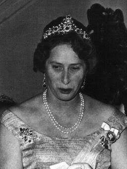 The Russian sapphire tiara, worn by Princess Caroline Mathilde of Denmark.