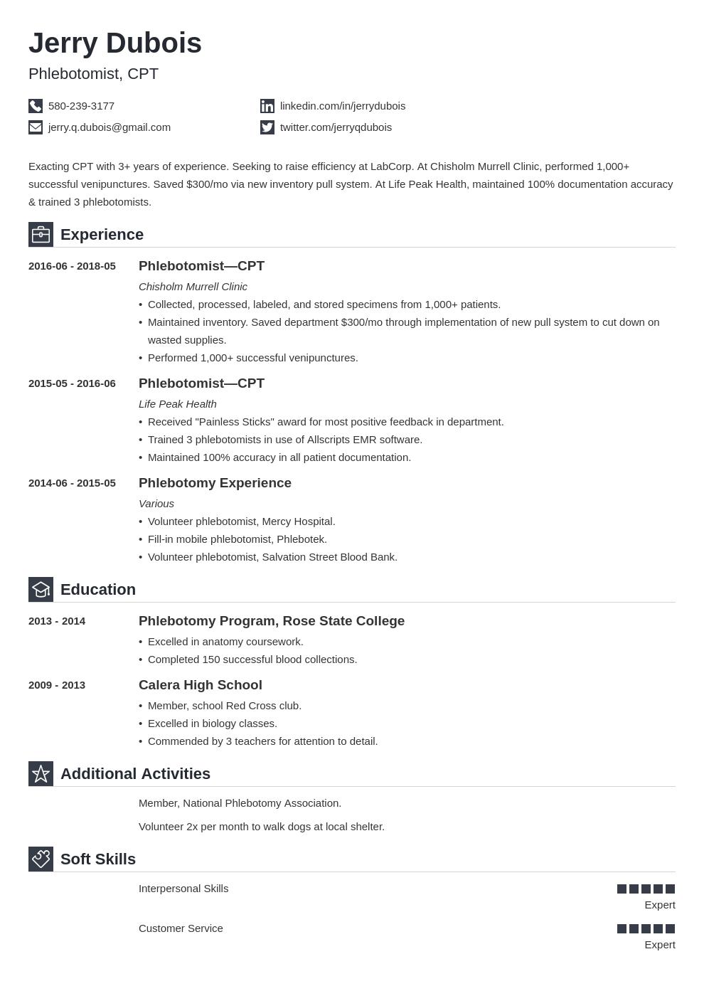 Phlebotomy Resume Example Template Iconic Resume Examples Phlebotomy Resume