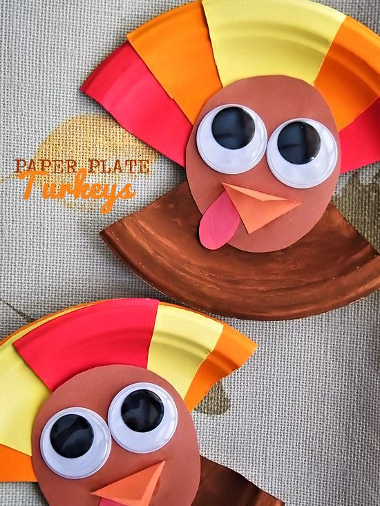 Paper Plate Turkeys Craft Thanksgiving Craft Fall Craft Kid Craft & Paper Plate Turkeys Craft Thanksgiving Craft Fall Craft Kid Craft ...