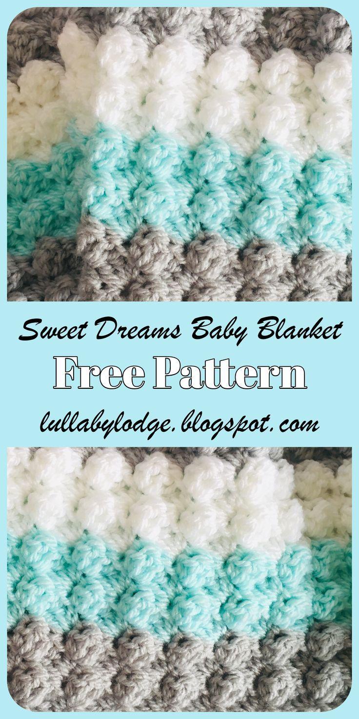 Sweet Dreams Baby Blanket - Free Crochet Pattern #babyblanket