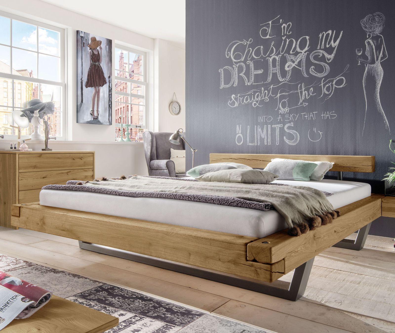 """Bett """"Darica"""" Massiv möbel, Schlafzimmermöbel, Schwebebett"""