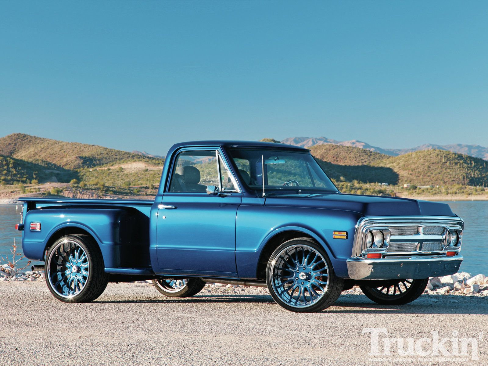 1970 Gmc C10 Code Blue Left Angle Photo 1 Custom trucks