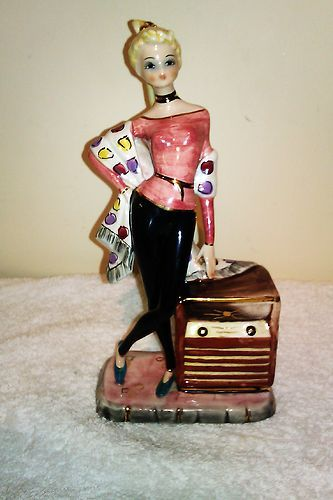 G Girardi Figurine In The Style Of Lenci A 1950s Style