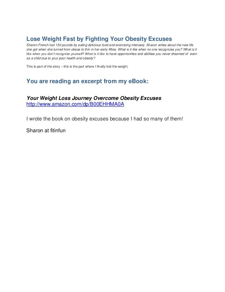 Lose weight fast by fighting your obesity excuses if i can do it lose weight fast by fighting your obesity excuses if i can do it anyone ccuart Images
