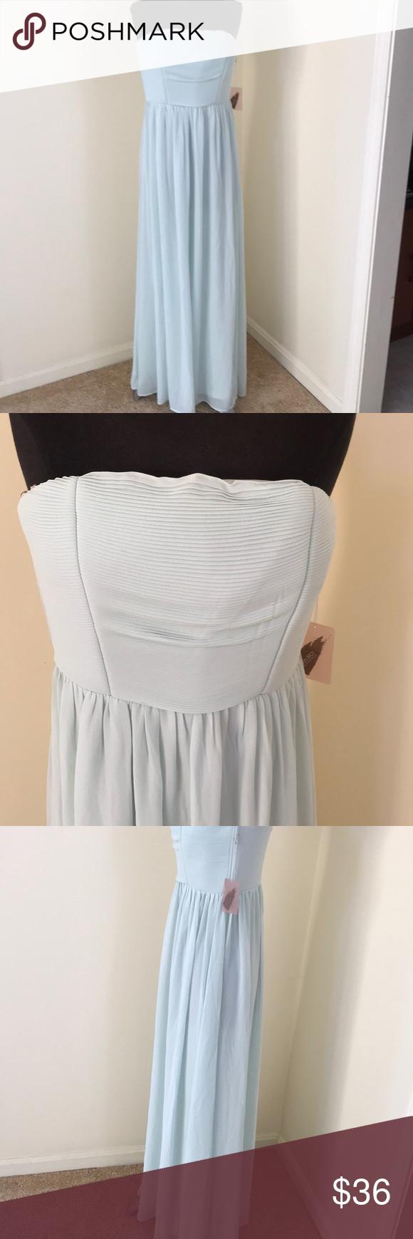 New forever size aquamarine long dress nwt my posh picks