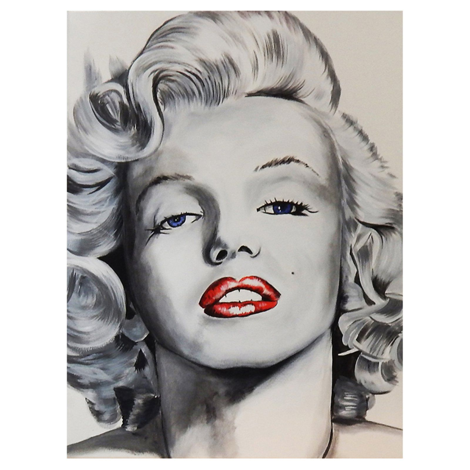 Pop Art Marilyn 16x12 Art Print Poster Marilyn Monroe Red Lips by Ed Capeau