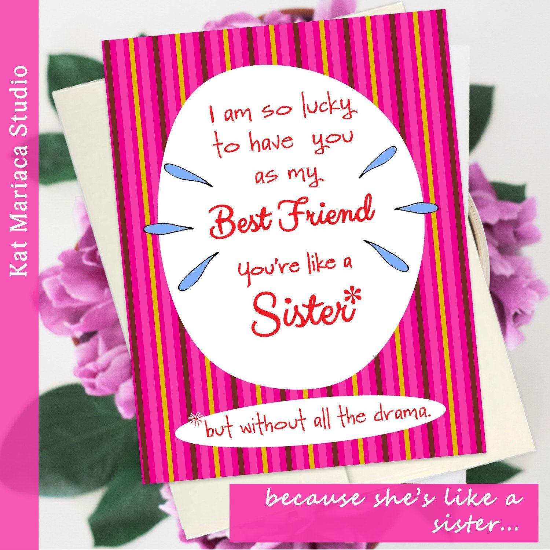 Funny Best Friend Card Best Friends Day Best Friend Birthday