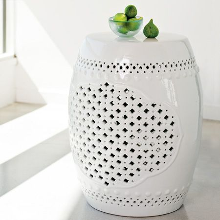 DESIGN ON SALE DAILY: DRUMMING UP A SPECIAL DISCOUNT ON TWO CERAMIC ACCENT  TABLES