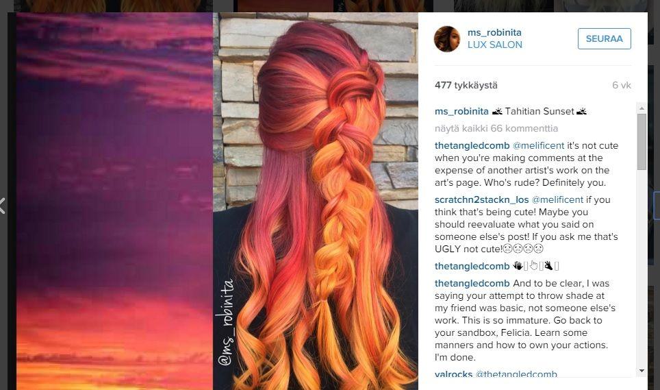 Inspiraatiota auringonlaskusta - tältä näyttää ihastuttava uusi hiustrendi