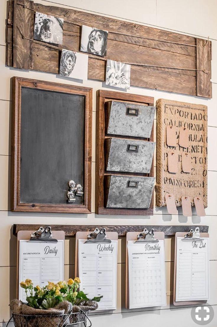 Farmhouse desk organization room inspiration in pinterest