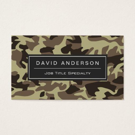 Hunter Stylish Military Camouflage Camo Pattern Business Card Zazzle Com Business Card Pattern Camo Patterns Military Camouflage