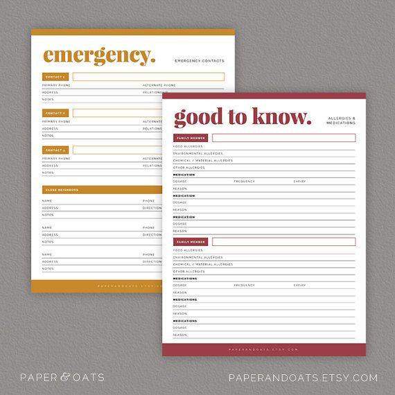 Family Planner Binder, Mom Planner PDF, Household Binder