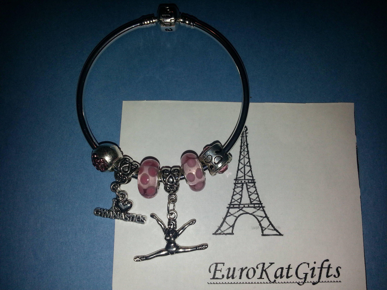 Silver Sports Jewelry European Silver BraceletCZ Charm Bracelet