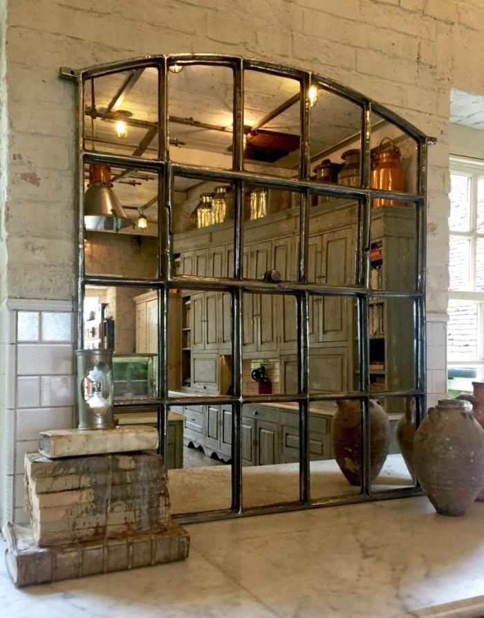 grand miroir fenetre pour deco murale