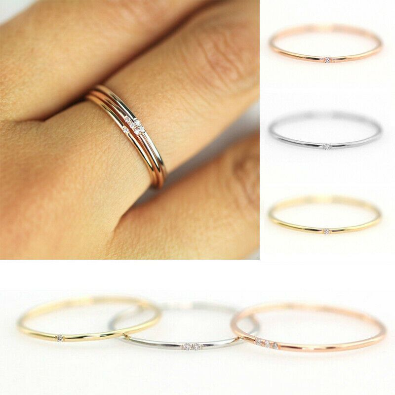 Paparazzi Fine Lines Black Dainty Ring Stretchy Dainty Rings Ideas Of Dainty Rings Daintyring In 2020 Delicate Wedding Jewelry Gold Finger Rings Engagement Finger