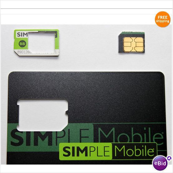 simple mobile micro sim card activation kit gsm prepaid