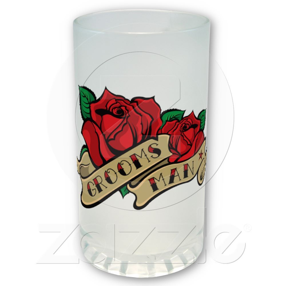Tattoo Rose Groomsman Wedding Favor Beer Mug | Beer mugs, Groomsmen ...