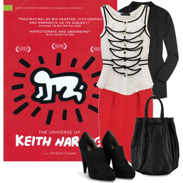 #diskartengpinay  Art Inspired Outfits  Keith Haring, created by georgina-m on Polyvore